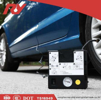 Powerful Motor Car Tire Inflator Air Compressor , 12V Tyre Inflator 120W 10A Pump supplier